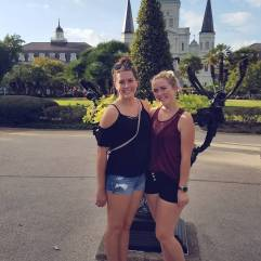 Emily and I in Jackson Square
