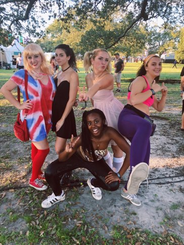October, dressed as the spice girls with my suite + Lauren