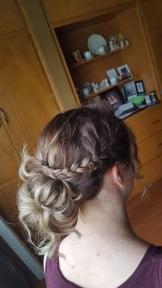 April, my prom hair