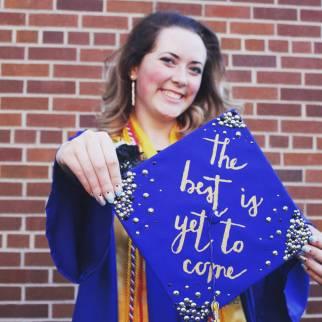 May, at graduation