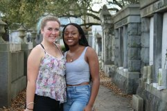 Didi and me at the cemetery