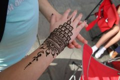 The twins got henna while down here!