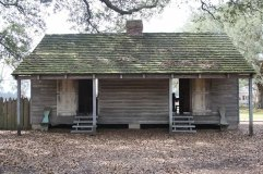 A slave cabin at the plantation
