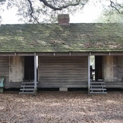 A slave cabin at the plantation