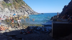 The beach at Vernazza