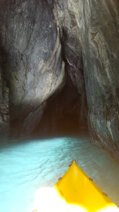 Kayaking in a cave in Vernazza