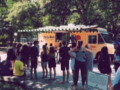 A Cafe du Monde food truck was on campus for the last few days of school
