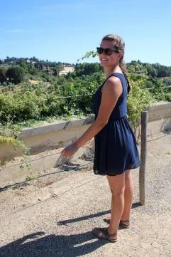 Emily at the Boboli Gardens