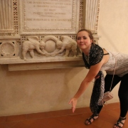 Me, being a dork, mimicking the sculptures