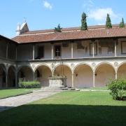 A gorgeous courtyard by the church