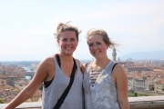 Emily and I in front of the city