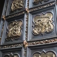 The famous baptistry doors