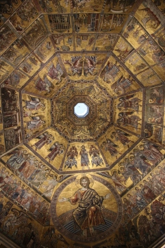The golden ceiling of the baptistry