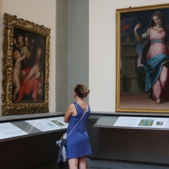 I don't remember what piece I was looking at, but Emily was pretty excited to see that I was actually interested in the art.