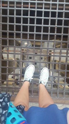 A long way down in the bell tower...