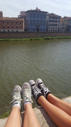 Emily and I along the riverbank