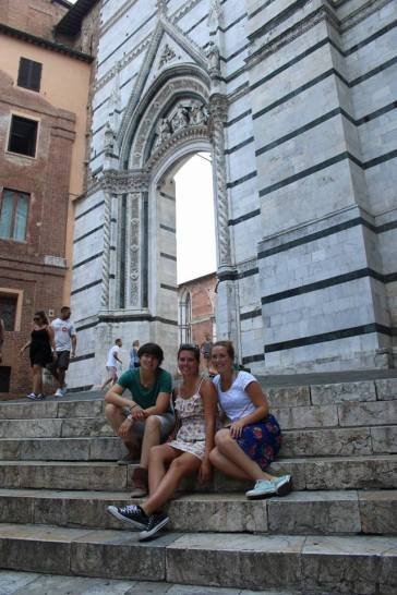 Outside of the baptistry