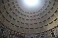 The open ceiling of the Pantheon