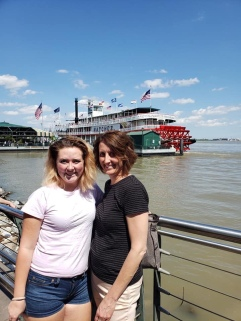 Before our riverboat cruise!