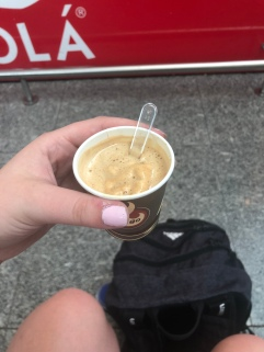 My first affogato: espresso with a scoop of caramel gelato. Absolutely to die for.