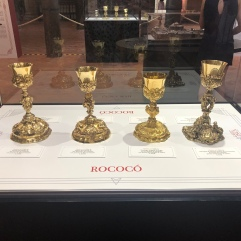 Just a few of the chalices they had on display