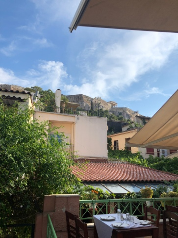 The view of the Acropolis from our restaurant