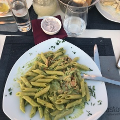 My pesto salmon pasta could not have been better